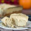 Coconut Flour Cake with Pumpkin Ricotta Cream
