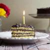 Classic Yellow Birthday Cake with Chocolate Icing