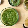 Fresh Basil Pesto - Four Ingredients, Nut Free Pesto