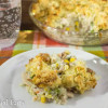 Low Carb Chicken Pot Pie with Biscuit Topping