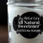 pinterest image for DIY sugar free sweetener