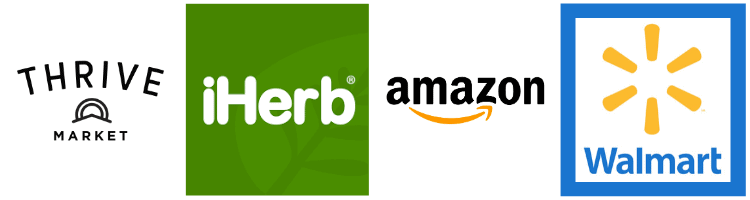 website logos for thrive market iherb amazon and walmart