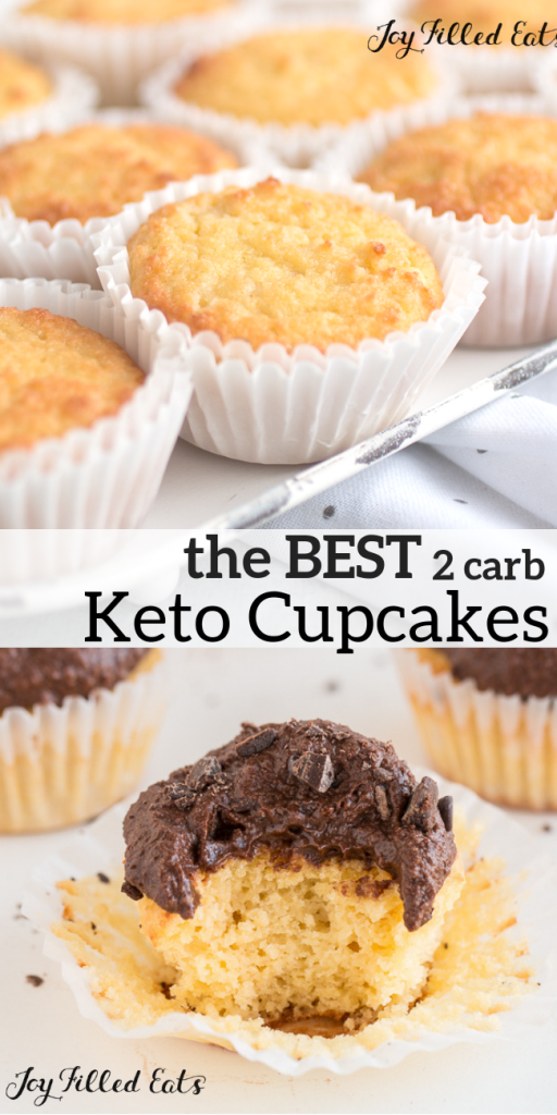 pinterest image for keto cupcakes