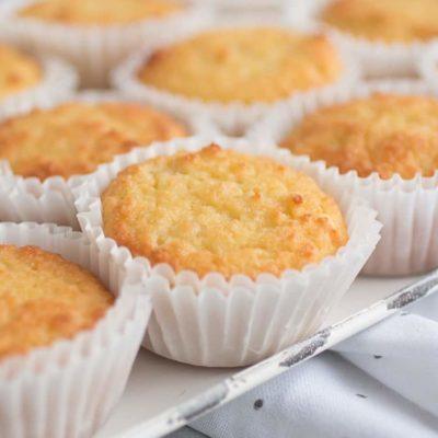 Sour Cream Vanilla Keto Cupcakes Low Carb Gluten-Free