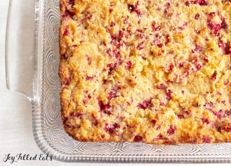 close up of cranberry bliss bars with no frosting