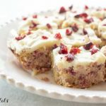 plate of cranberry bliss bars