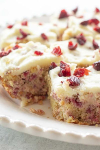 Cranberry Bliss Bars – Low Carb, Keto, Gluten Free