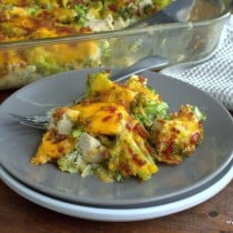 Bacon Ranch Chicken Casserole - low carb, grain, gluten, & sugar free, & a THM S.