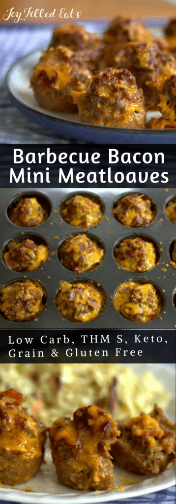 pinterest image for BBQ mini meatloafs