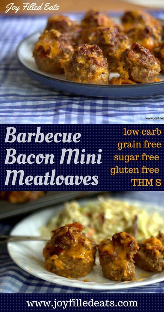 My BBQ Bacon Mini Meatloaves are a great week night dinner but also look nice enough for a special occasion. They are grain, gluten, & sugar free, low carb, THM S.