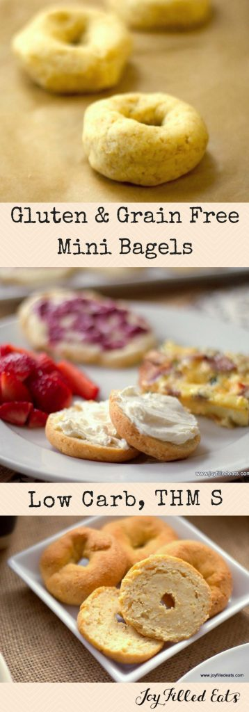 pinterest image for low carb mini bagels