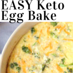 pinterest image for keto egg bake with cream cheese
