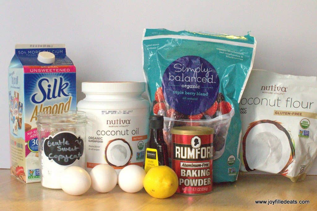 ingredients for the Lemon Muffins with Berries