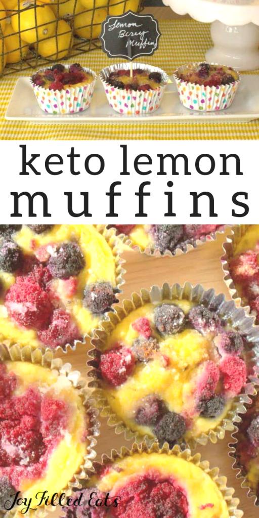 pinterest image for keto lemon muffins