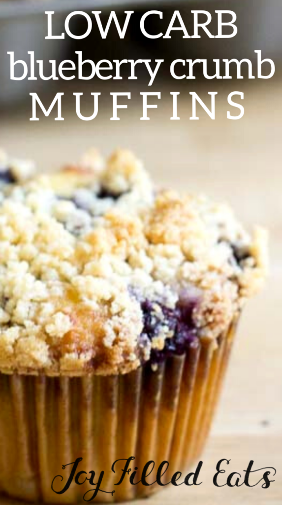 pinterest image for blueberry crumb muffins