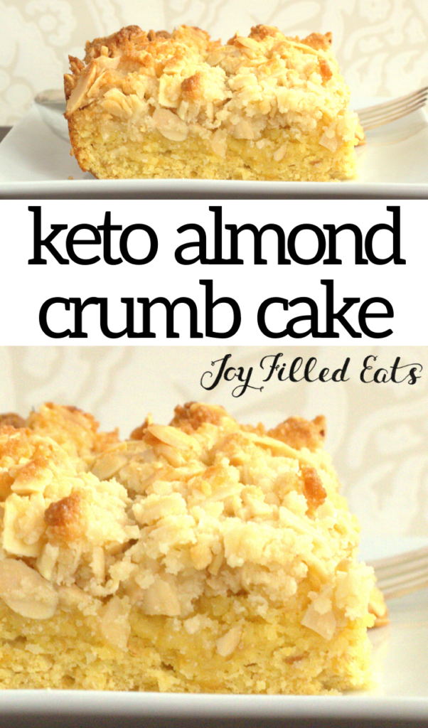 pinterest image for almond crumb cake