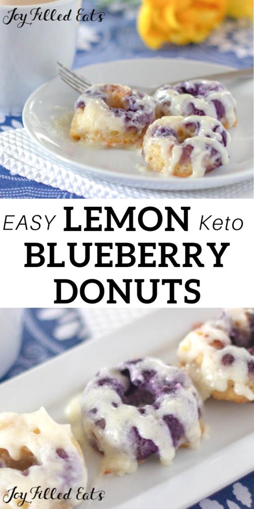 pinterest image for keto lemon blueberry donuts