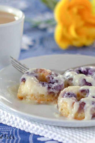 Cream Cheese Glaze Lemon Blueberry Donuts