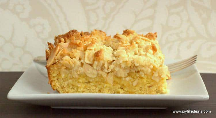 Keto Breakfast Cake Recipe: Almond Crumb Cake Recipe