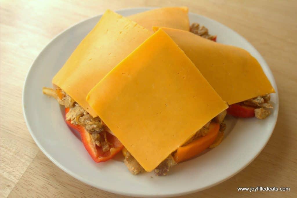Chicken Fajita Nachos - low carb, grain free, gluten free, THM S