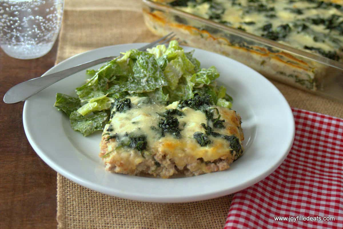 Healthy Ground Turkey Recipes | White Lazy Lasagna