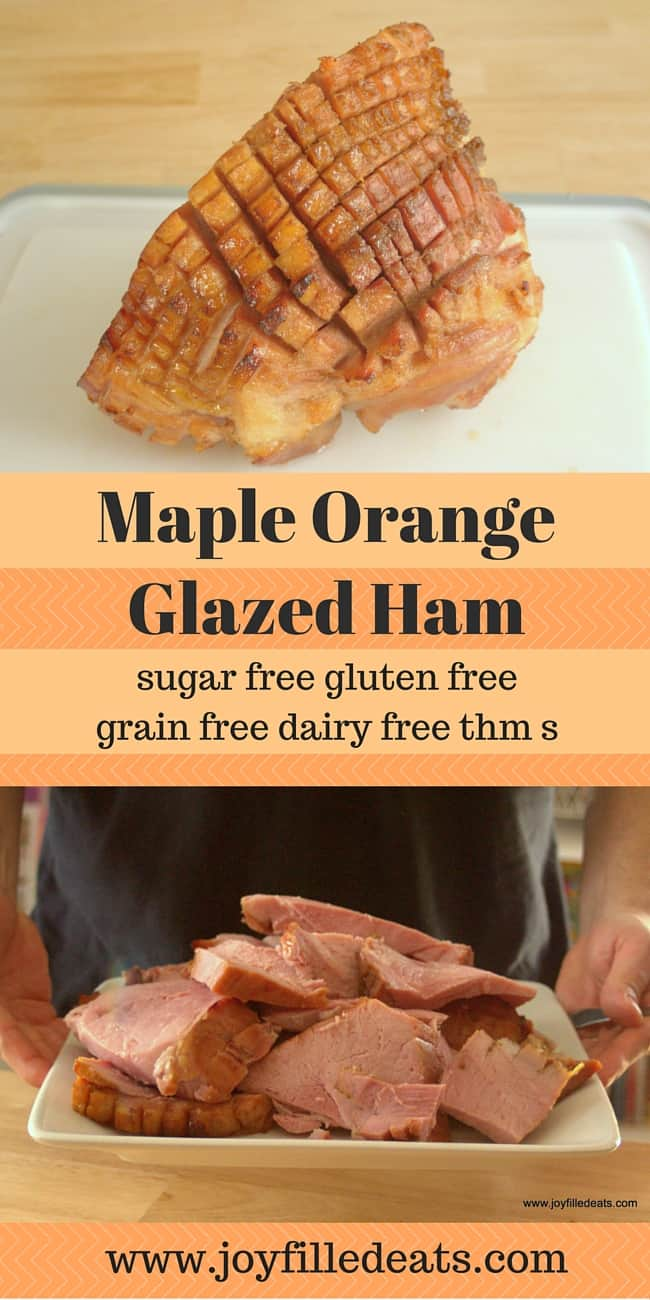 The best part of ham is the sweet glaze. My Sugar Free Maple Orange Glaze complimented the saltiness of the ham perfectly. Gluten/Grain/Dairy Free THM S.