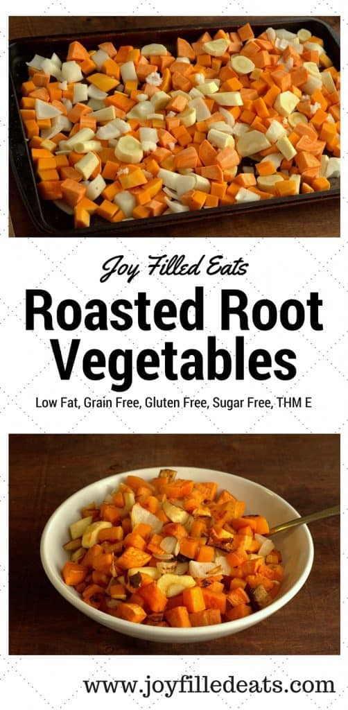 pinterest image for roasted root vegetables