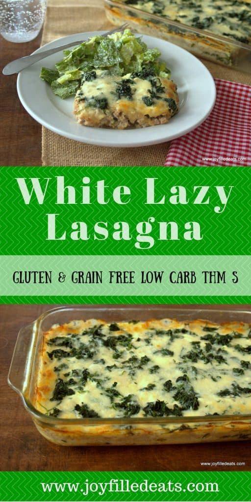 pinterest image for low carb white lazy lasagna