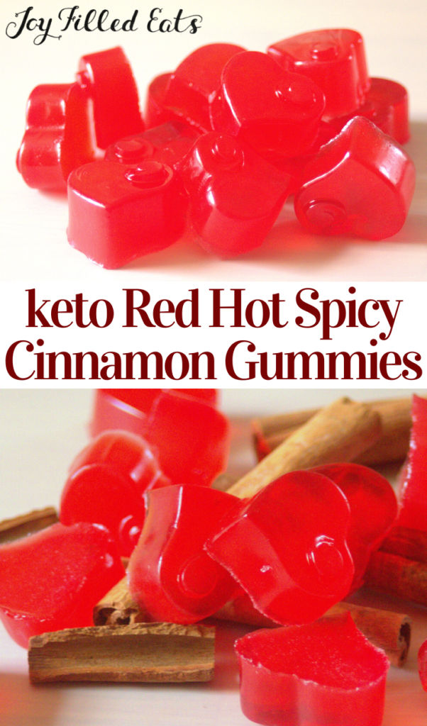pinterest image for red hot cinnamon gummies