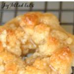 pinterest image for keto glazed crumb donuts