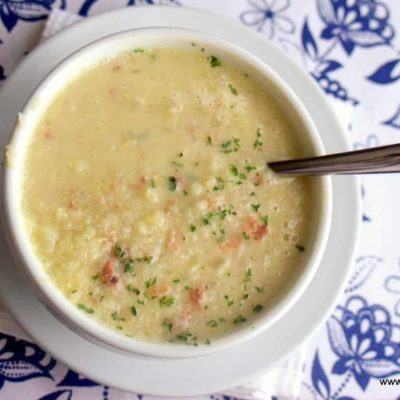 Bacon Cauliflower Soup – Low Carb, THM FP, Dairy Free