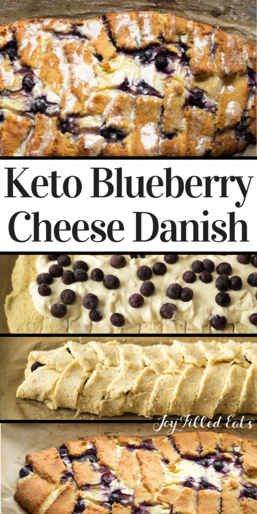 pinterest image for braided blueberry cheese danish