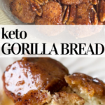 pinterest image for keto gorilla bread