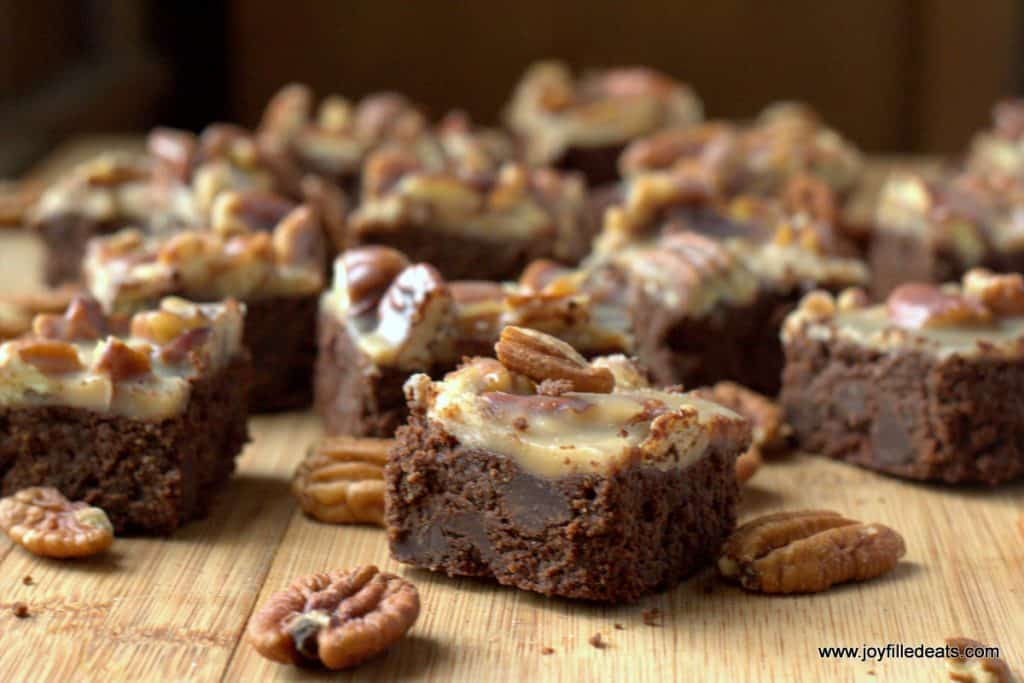 Pecan Praline Brownies - Low Carb, Gluten/Grain/Sugar Free, THM S