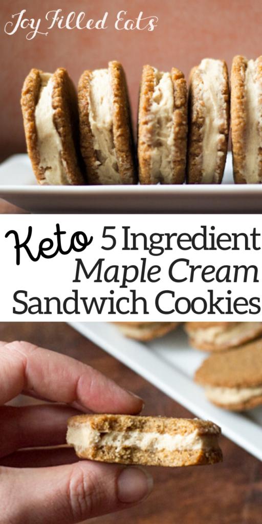 pinterest image for maple cream sandwich cookies