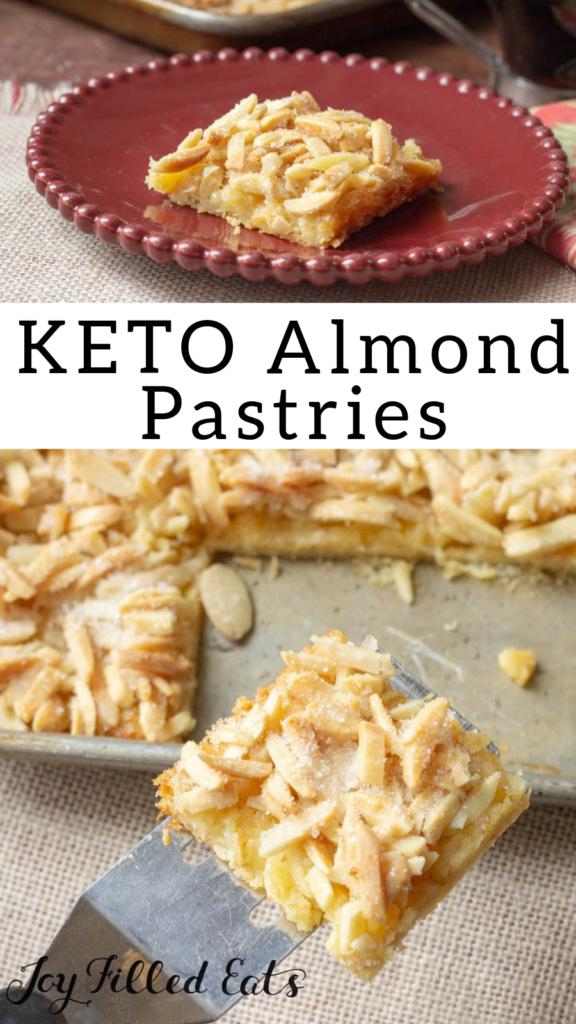 pinterest image for keto almond pastries