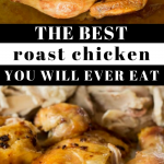 pinterest image for roast chicken