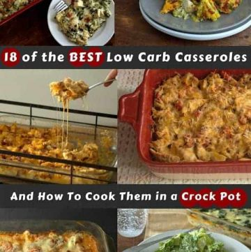 pinterest image for 18 low carb casseroles