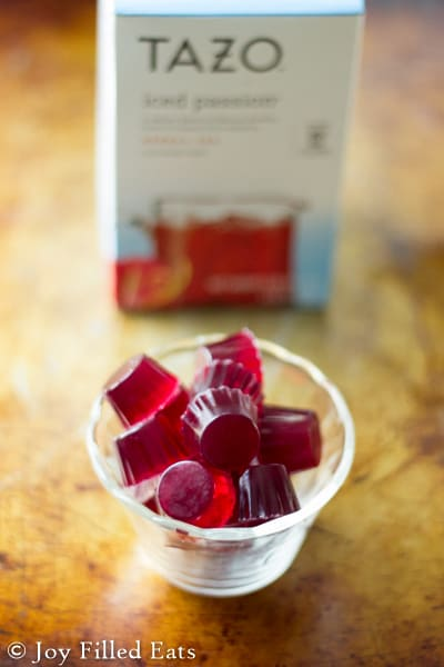Tazo Passion Tea is my favorite iced tea. With such a great flavor and color I knew it would be perfect for gummies. These are low carb, sugar free, THM FP.