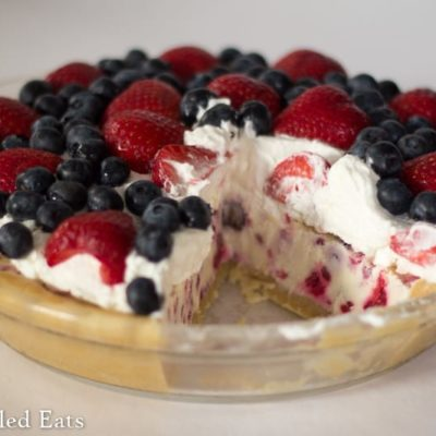 Berries & Cream Ice Cream Pie