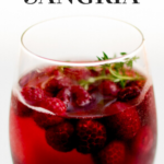pinterest image for raspberry sangria