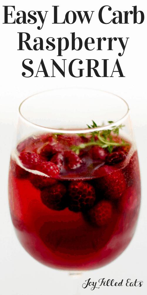 pinterest image for raspberry sangria
