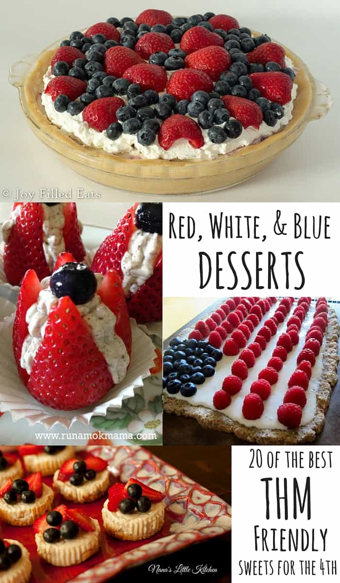pinterest image for red, white and blue desserts