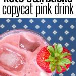 pinterest image for pink drink recipe