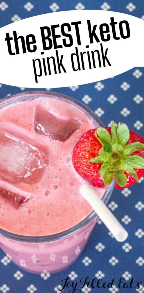 pinterest image for keto pink drink