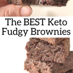 pinterest image for dairy free brownies