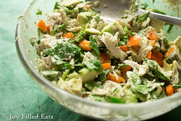 Cilantro Lime Chicken Salad - Low Carb, Grain/Gluten Free, THM S
