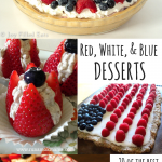pinterest image for Red, White & Blue Desserts