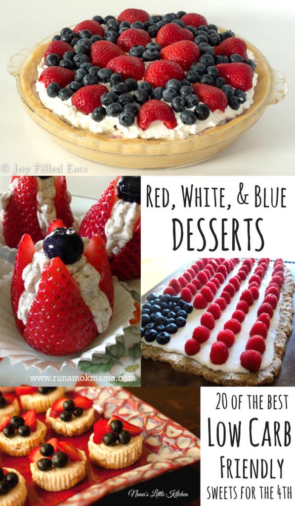 pinterest image for Red, White & Blue Desserts