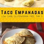 pinterest image for gluten free taco empanadas